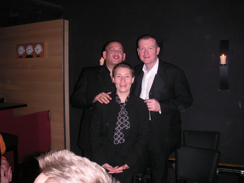 Steve Davis, Darren Paris and Jeannette